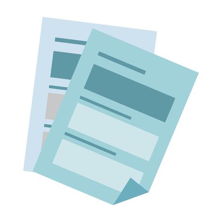 Document pagina's pictogram over witte achtergrond vector illustratie