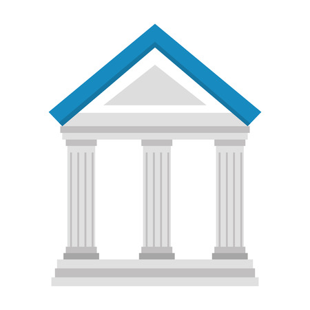 Bank gebouw pictogram over witte achtergrond vectorillustratie Stockfoto - 83823708