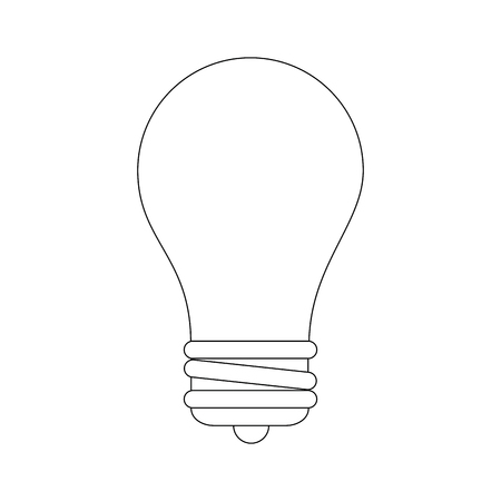 light bulb icon over white background vector illustration Imagens - 83827277