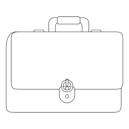 zakelijke aktetas icoon over witte achtergrond vector illustratie