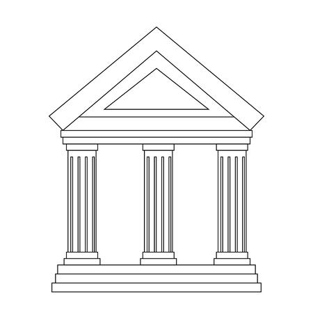 Bank gebouw pictogram over witte achtergrond vectorillustratie Stockfoto - 83827280