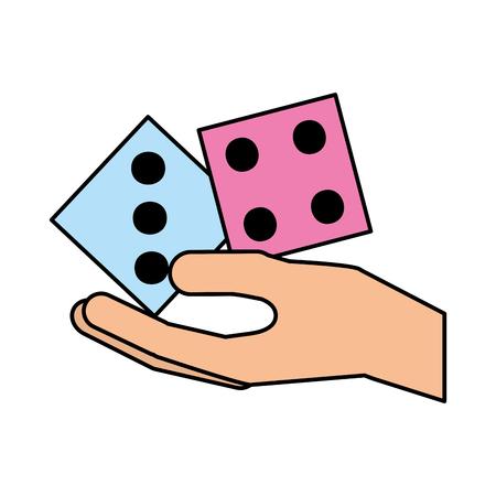 カジノ サイコロ人間ベクトル イラスト デザインを手します。
