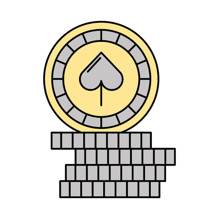 opportunity sign: casino chips with spade vector illustration design