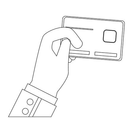 白い背景のベクトル図をクレジット カード アイコン