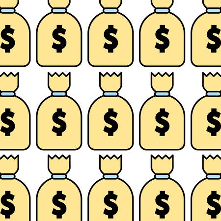 money bag pattern background vector illustration design Illustration
