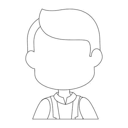 man icon over white background vector illustration