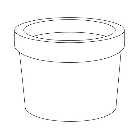 Icono de pote de flor sobre fondo blanco ilustración vectorial Ilustración de vector