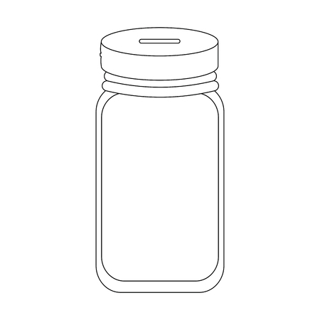 money box empty icon over white background vector illustration