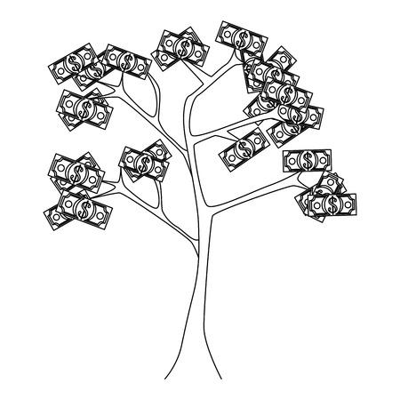 money plant icon over white background vector illustration