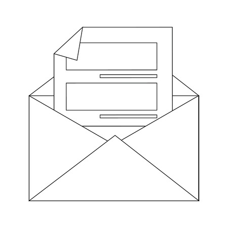 Letter on mail icon vector illustration graphic design