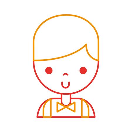Casino-dealer avatar karakter vector illustratie ontwerp Stock Illustratie