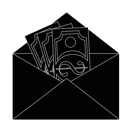 メールでお金アイコン ベクトル イラスト グラフィック デザイン 写真素材 - 83827139