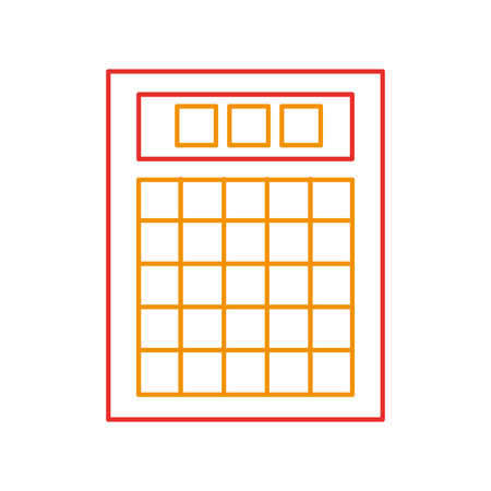lottery board isolated icon vector illustration design