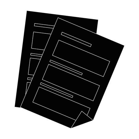 ドキュメント シート分離アイコン ベクトル イラスト グラフィック デザイン