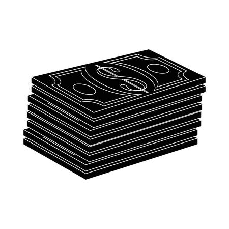 Money billets symbol icon vector illustration graphic design