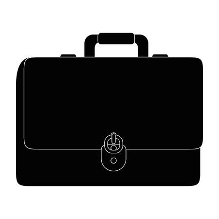 Vector de illustratie grafisch ontwerp van de bedrijfsaktentas geïsoleerd pictogram