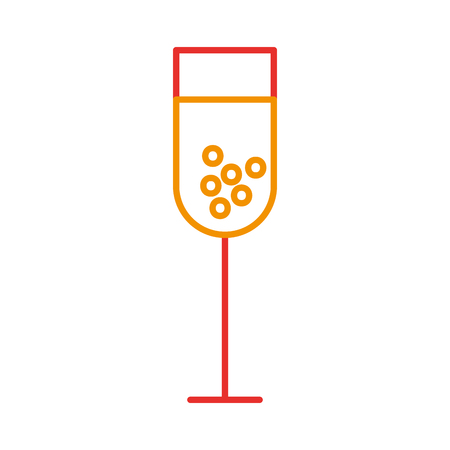 wine cup isolated icon vector illustration design Çizim