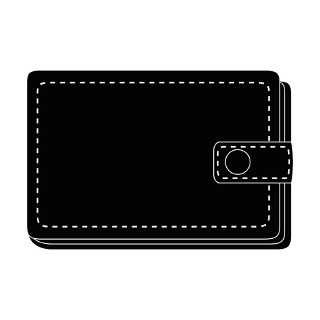 Leather wallet symbol icon vector illustration graphic design