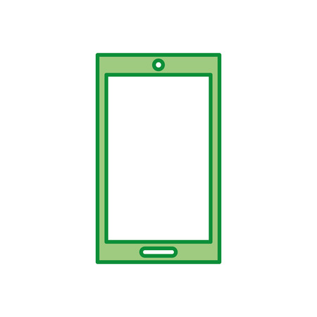 touch screen phone: smartphone device isolated icon vector illustration design