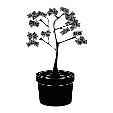 金のなる木シンボル アイコン ベクトル イラスト グラフィック デザイン  イラスト・ベクター素材