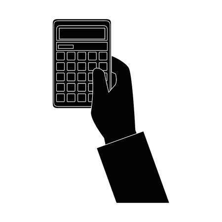 Calculatrice mathématiques dispositif icône vecteur illustration de conception graphique Banque d'images - 83826984