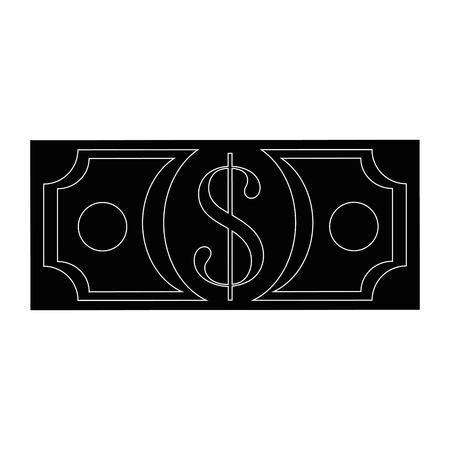 돈을 빌릿 절연 아이콘 벡터 일러스트 그래픽 디자인