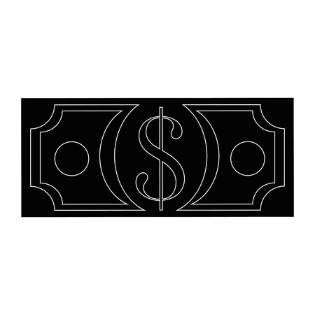Money billet isolated icon vector illustration graphic design