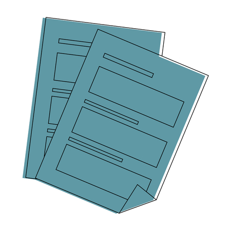 Documents sheets isolated icon vector illustration graphic design Illusztráció