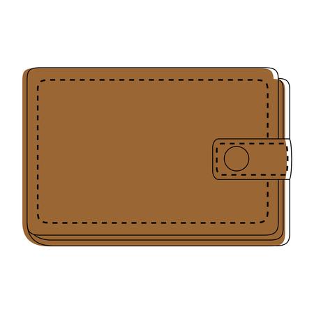 가죽 지갑 기호 아이콘 벡터 일러스트 그래픽 디자인 일러스트
