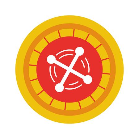 casino roulette isolated icon vector illustration design