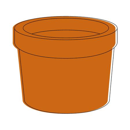 Empty plant pot icon vector illustration graphic design Stok Fotoğraf - 83825392