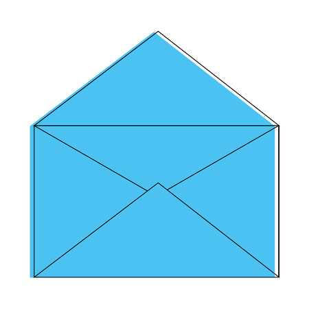 열린 메일 기호 아이콘 벡터 일러스트 그래픽 디자인