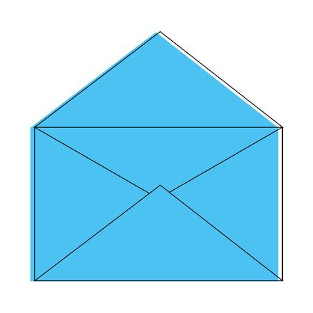 Apra la progettazione grafica dell'illustrazione di vettore dell'icona di simbolo della posta Archivio Fotografico - 83823558