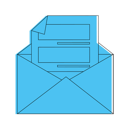 Brief op grafisch de illustratieontwerp van het postpictogram Stock Illustratie