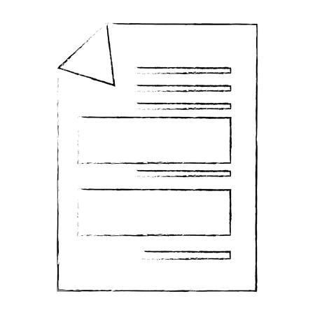 Dokument Seite Symbol über weißem Hintergrund Vektor-Illustration Standard-Bild - 83825331