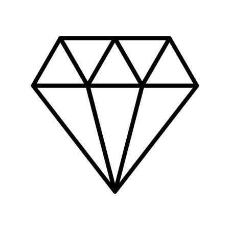 럭셔리 다이아몬드 격리 아이콘 벡터 일러스트 디자인 일러스트