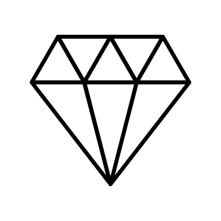 luxury diamond isolated icon vector illustration design