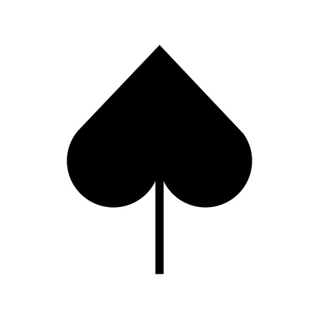spade poker symbol icon vector illustration design