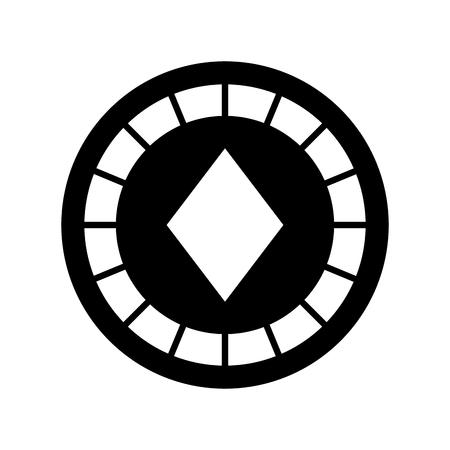 casino chips with diamond vector illustration design