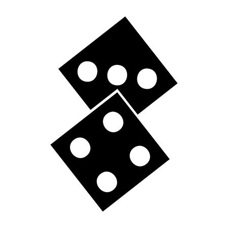 Casino dobbelstenen geïsoleerd pictogram vector illustratie ontwerp Stock Illustratie