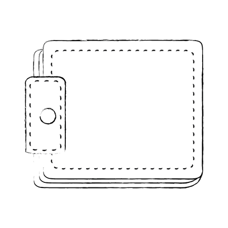 wallet icon over white background vector illustration 向量圖像