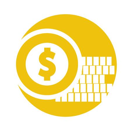 コインお金分離アイコン ベクトル イラスト デザイン