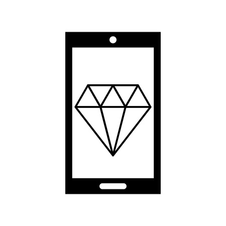 smartphone with luxury diamond isolated icon vector illustration design Stock fotó - 83826092