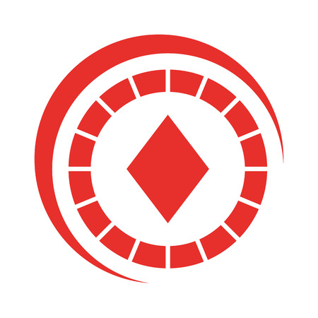 opportunity sign: casino chips with diamond vector illustration design
