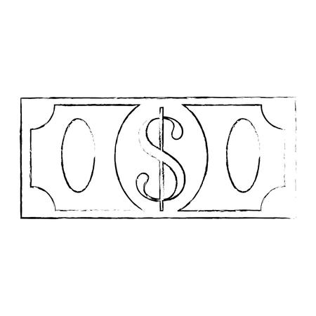 money bill icon over white background vector illustration