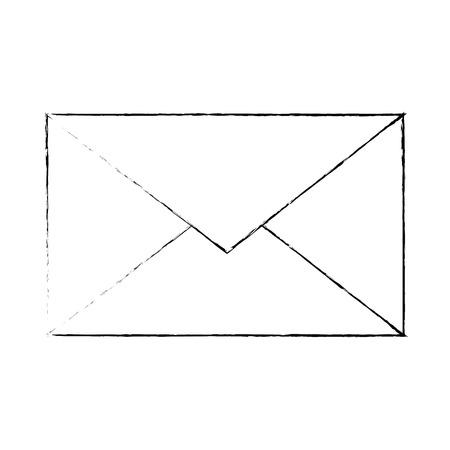 Simbolo di posta simbolo icona illustrazione vettoriale illustrazione grafica Archivio Fotografico - 83834921