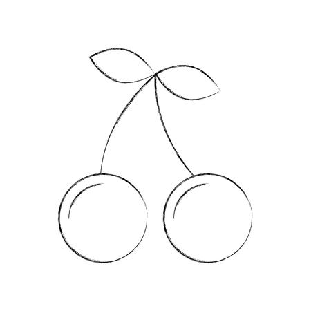 桜の果実分離アイコン ベクトル イラスト デザイン 写真素材 - 83825074