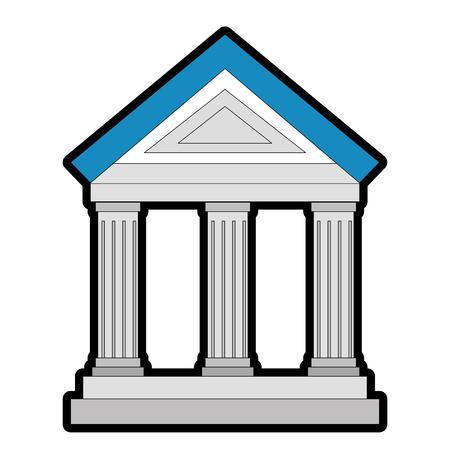 Icona di costruzione banca su sfondo bianco illustrazione vettoriale Archivio Fotografico - 83825086