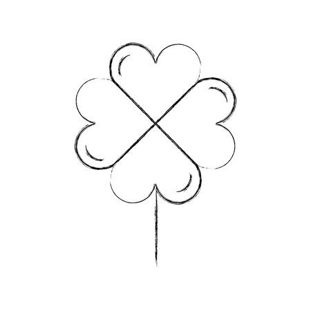 clover poker symbol icon vector illustration design Illustration
