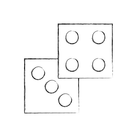 Design de casino isolé icône illustration d'illustration vectorielle Banque d'images - 83826280